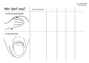 Bild: Wer darf was - Fragebogen