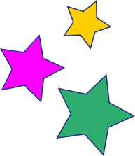 3 bunte Sterne