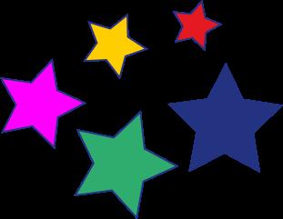 5 bunte Sterne